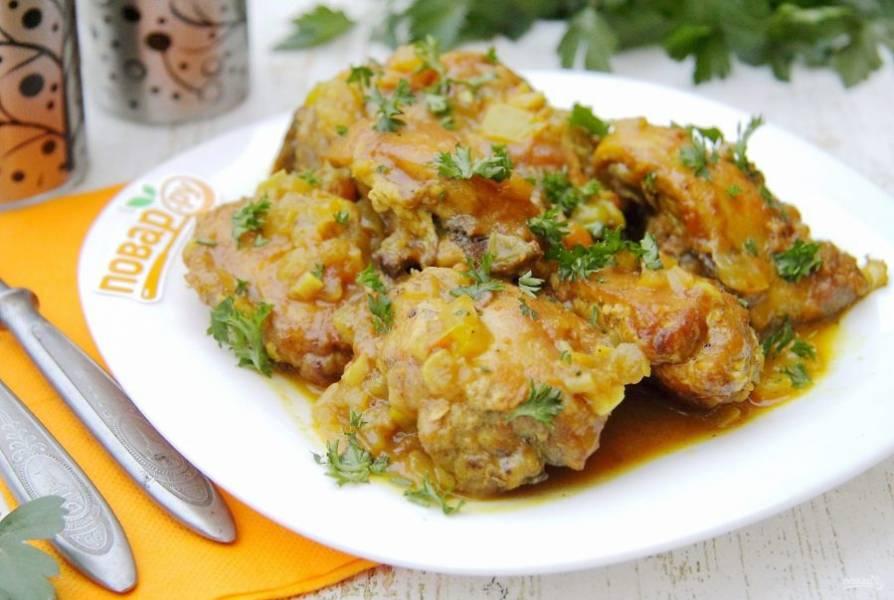 Курица карри от Джейми Оливера готова. Приятного аппетита!