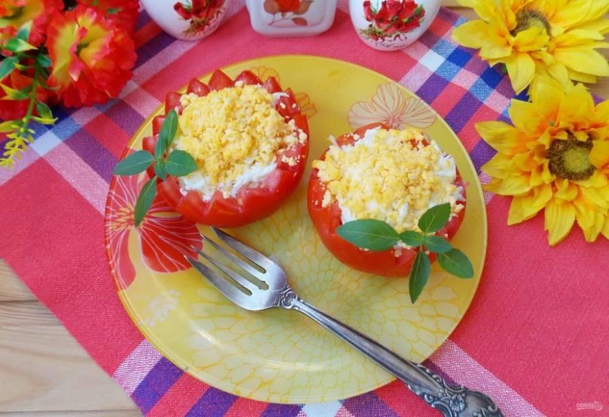 Закусочные помидоры готовы.