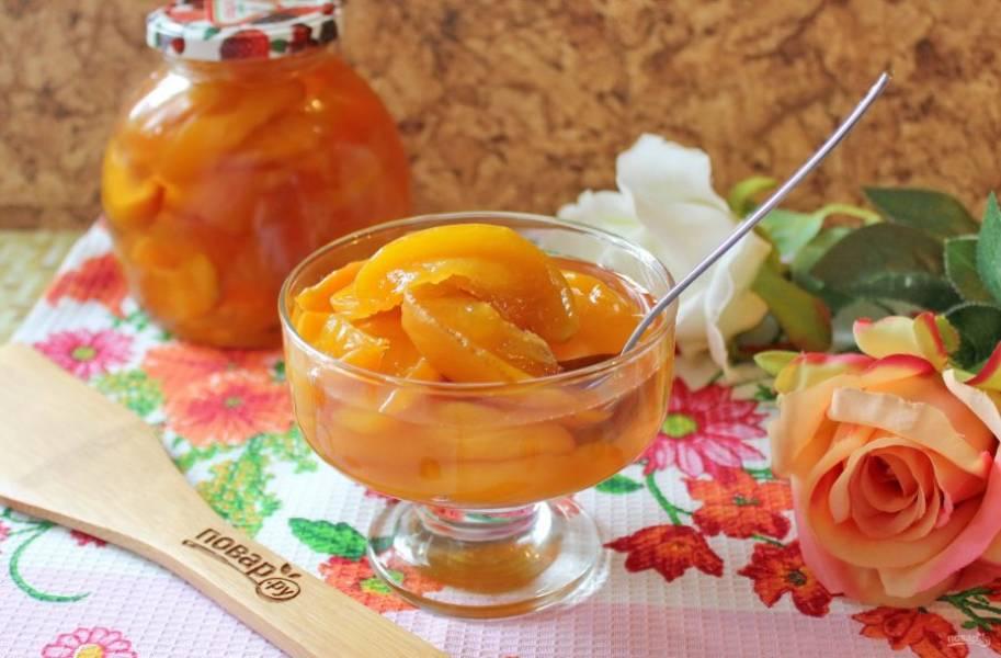 Варенье из персиков дольками готово. Необыкновенно вкусное, ароматное и красивое!