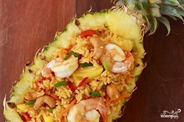Рис в ананасе