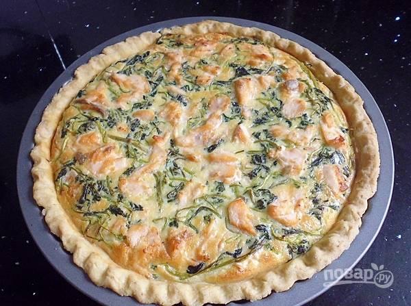 Отправьте пирог в разогретую до 190 градусов духовку на 25-30 минут. Пирог готов!
