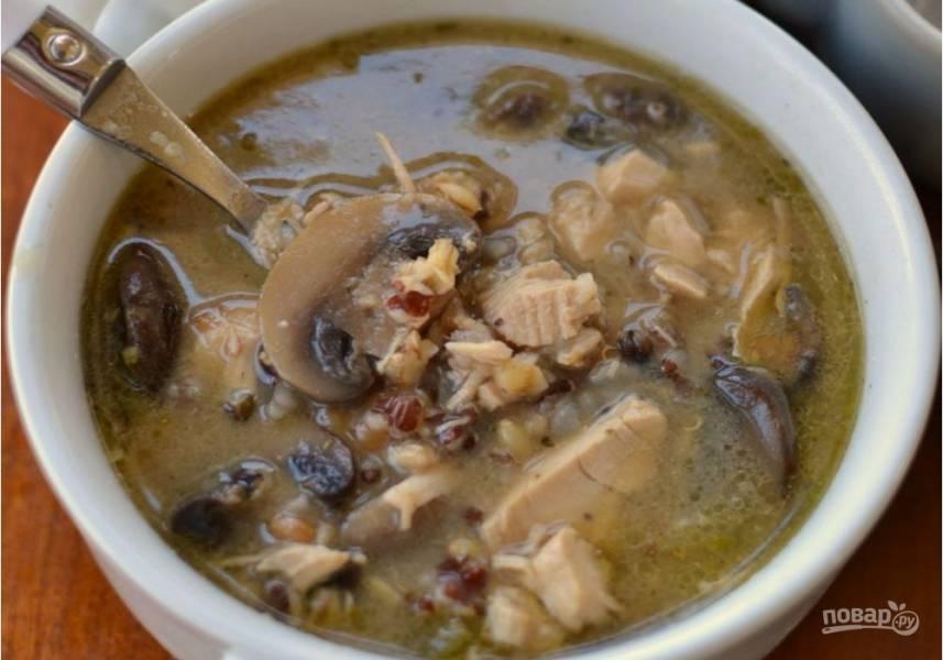 Зимний суп с индейкой
