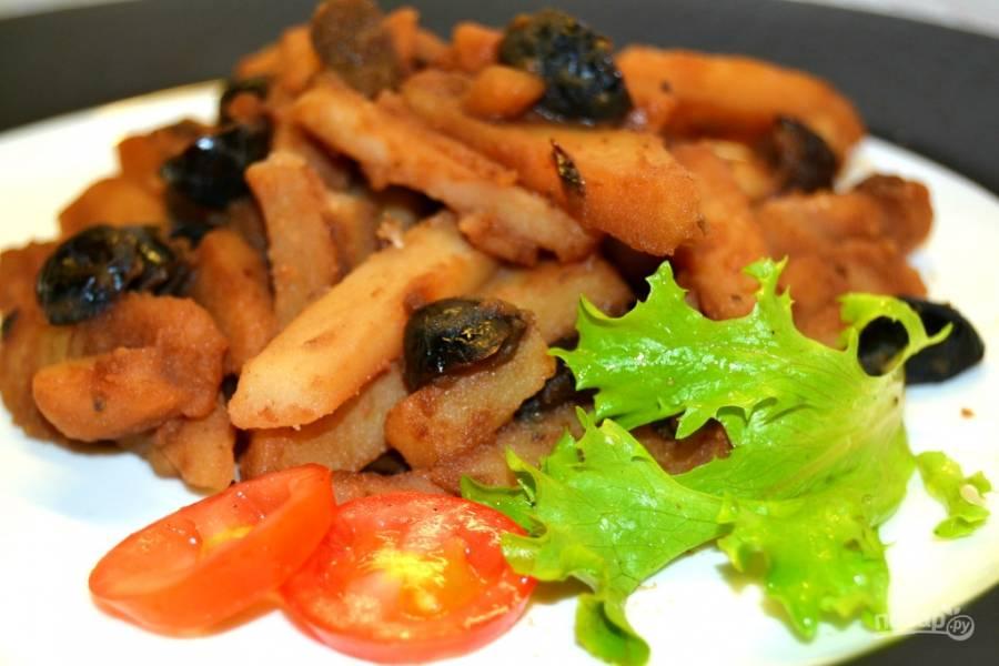 Картофель с оливками