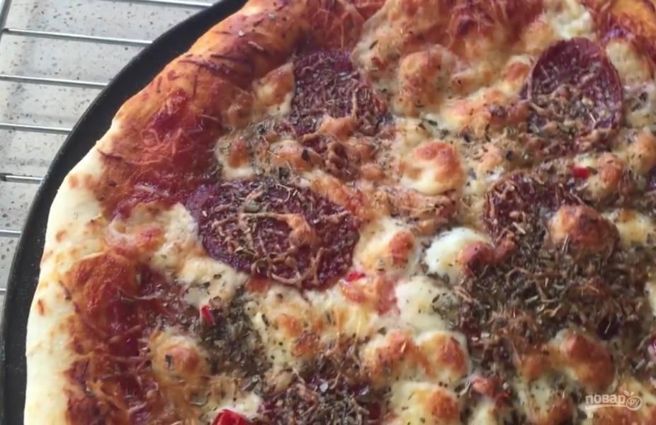 """Пицца """"Дьябола"""" на тонком тесте"""
