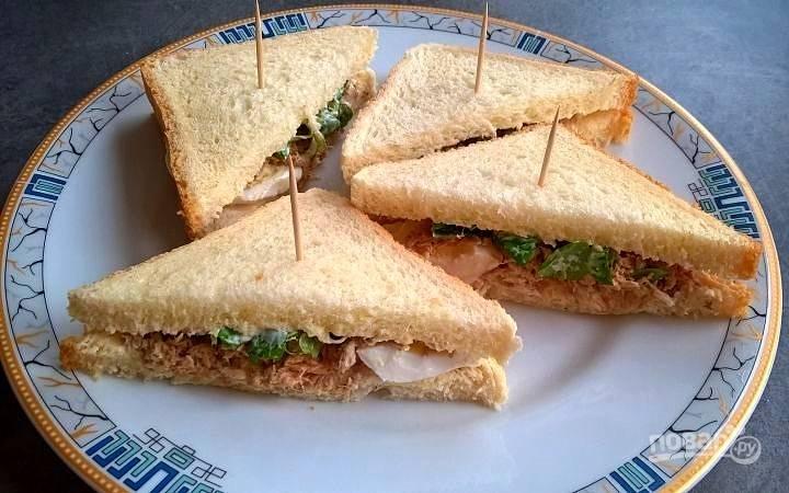 Бутерброды с рыбными консервами