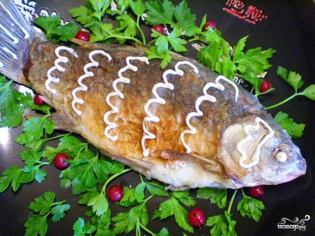 Жареная рыба в майонезе