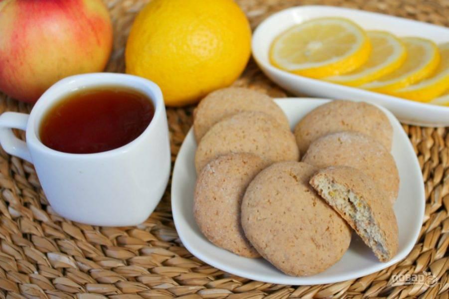 Печенье на оливковом масле готово. Приятного чаепития!
