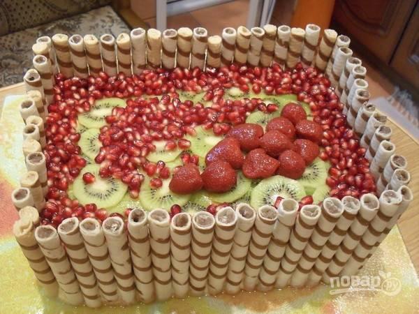 "Торт ""Фруктовая корзина"""