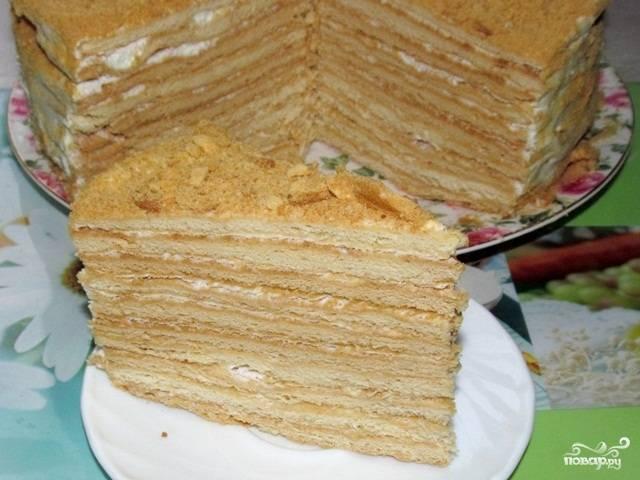Торт с сметанным кремом