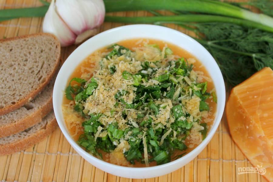 Суп пюре с зеленью