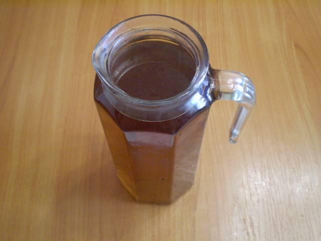 6. Охладите. Добавьте по вкусу мед. Напиток готов. Приятного!