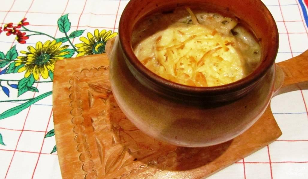 Картошка с лисичками в горшочке
