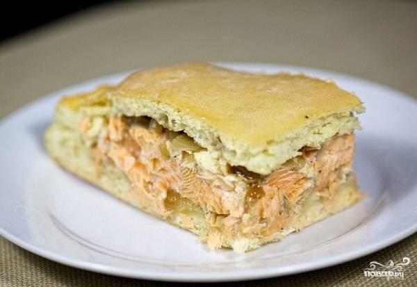 Рыбный пирог простой