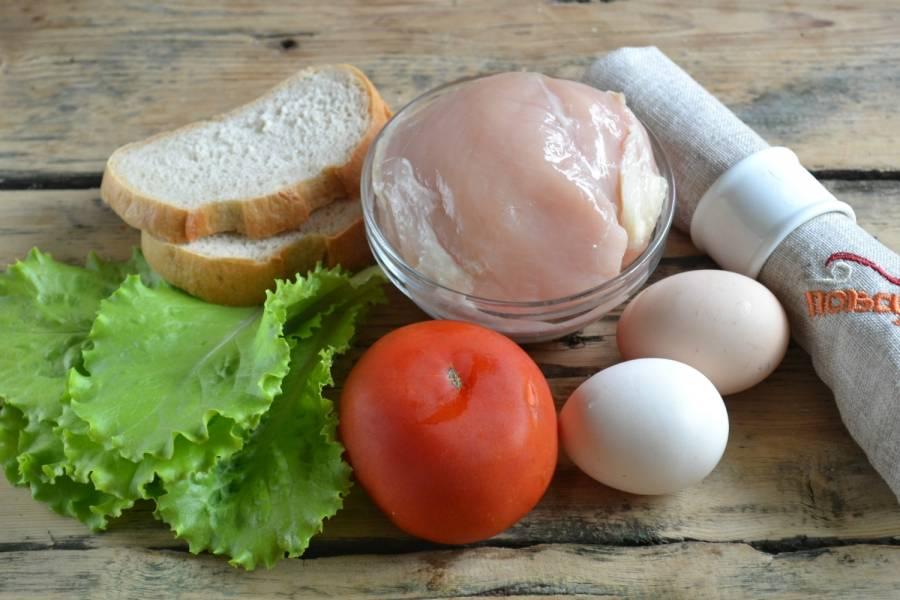 1.Подготовьте все необходимые ингредиенты. Яйца отварите вкрутую.
