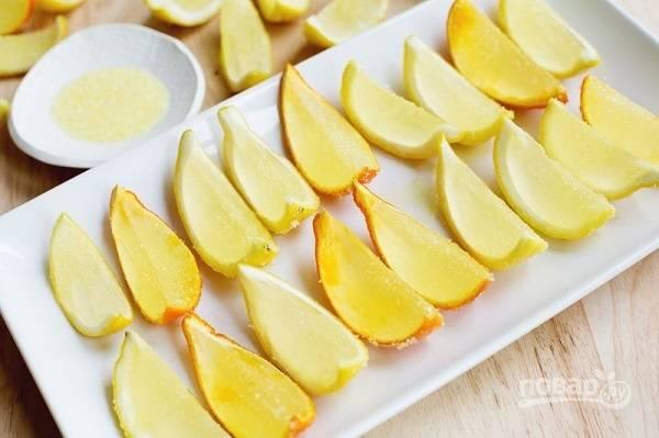Желатиновые шоты с лимоном