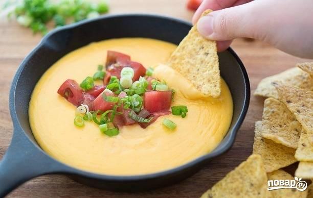 Сырный соус к начос