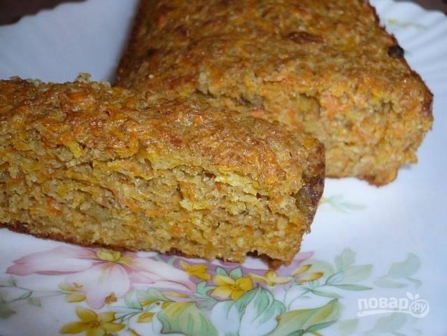 Морковный кекс с отрубями