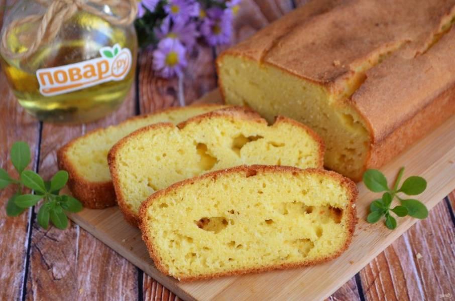 8. Кукурузный бездрожжевой хлеб готов. Пробуйте!