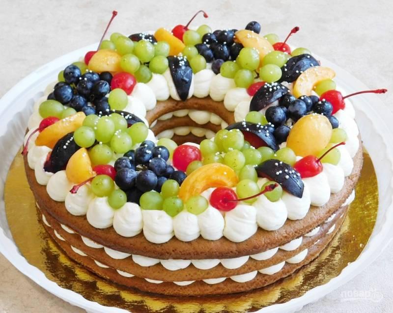 Медовый торт с кремом чиз