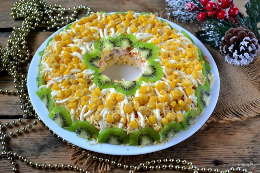 Куриный салат на Новый год
