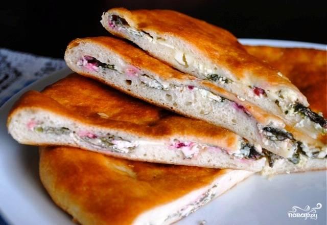 Осетинский пирог с ботвой