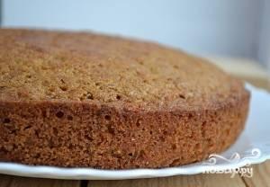 Разогрейте духовку до 180 градусов. Выпекайте пирог в течение 45 минут. Оставьте корж остужаться.