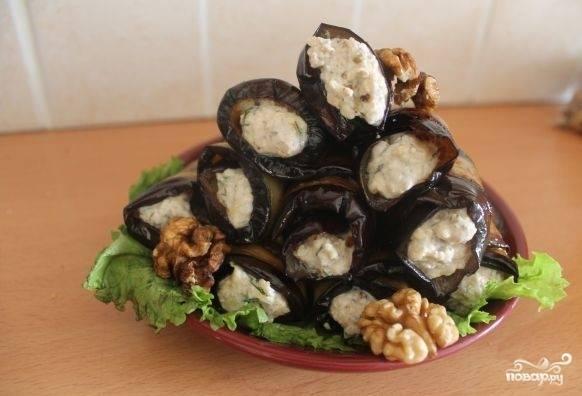 Баклажаны с орехами готовы. Приятного аппетита!