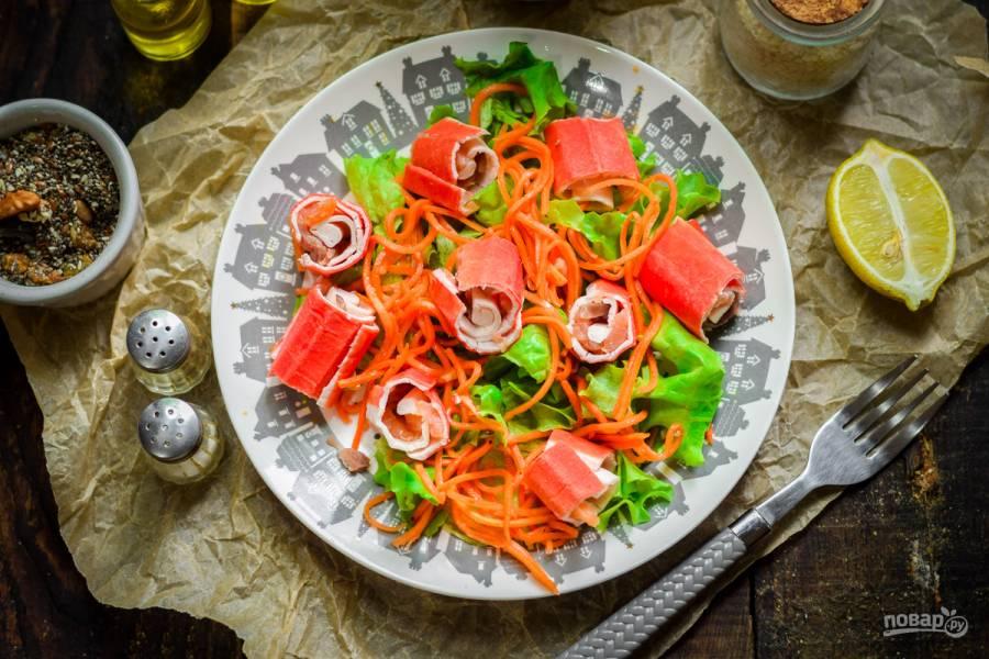 """Салат """"Маяк"""" с корейской морковкой"""