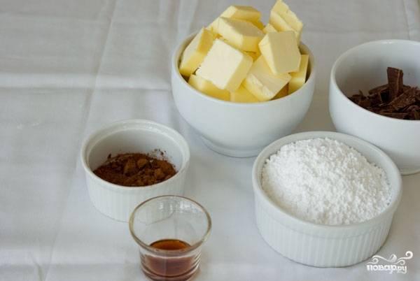 11. Пока остывает корж, можно заняться кремом. Подготовьте все ингредиенты, которые вам потребуются.
