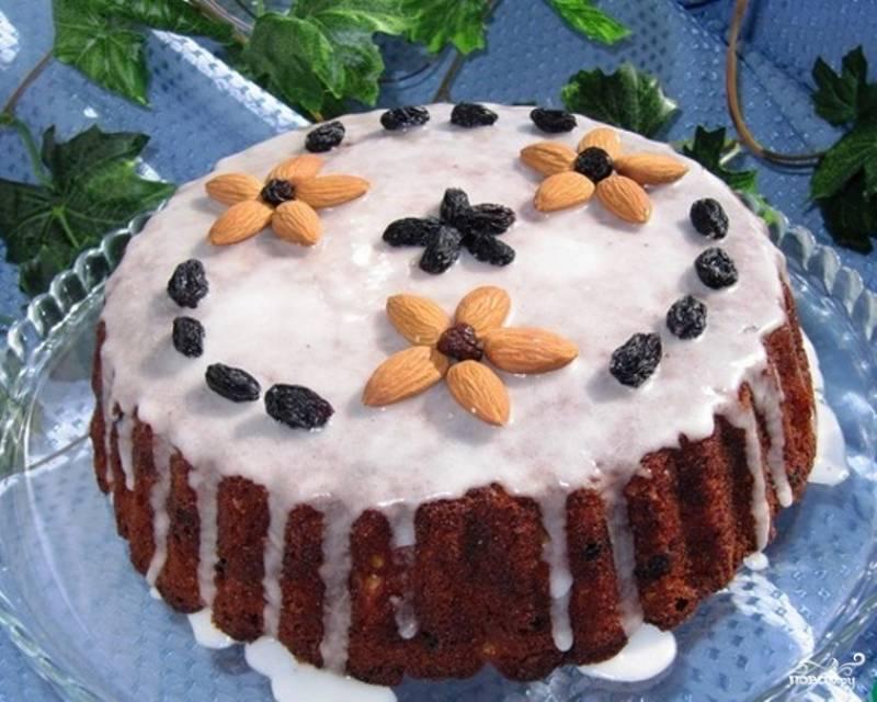 Медовый пирог с миндалем