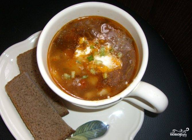 Суп со свининой и помидорами