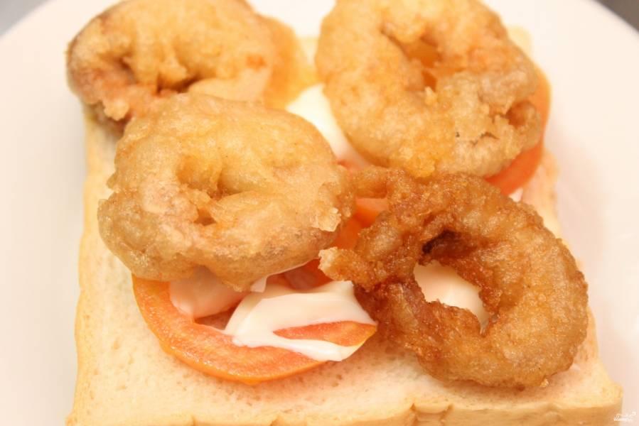 Бутерброды с кальмарами