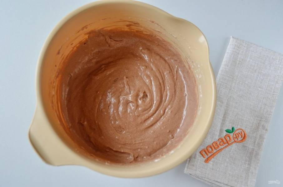 9. Тесто для бисквита готово, легкое и воздушное, очень ароматное.