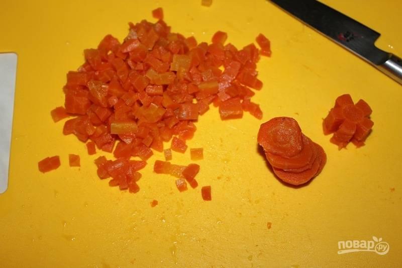7. Также можно использовать отварную морковь из бульона.
