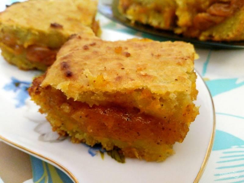 Пирог из ревеня с тыквенной начинкой