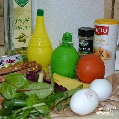 Вот ингредиенты, из которых будем готовить сэндвич.