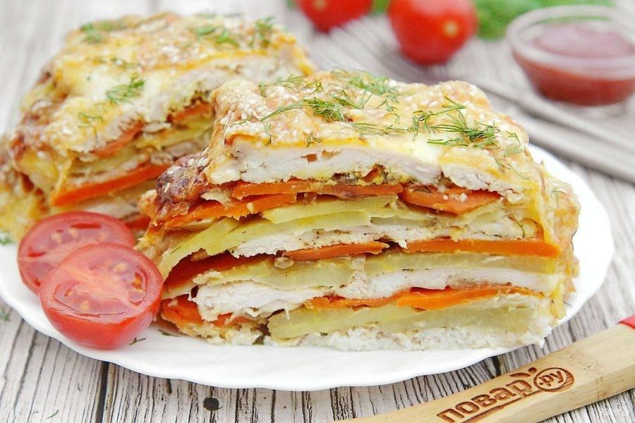 Подавайте блюдо с любимым соусом и свежими овощами. Приятного аппетита!
