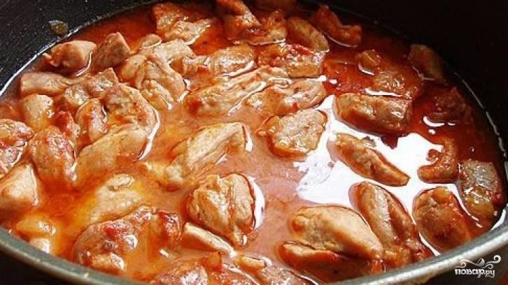 Поджарка из свинины на сковороде