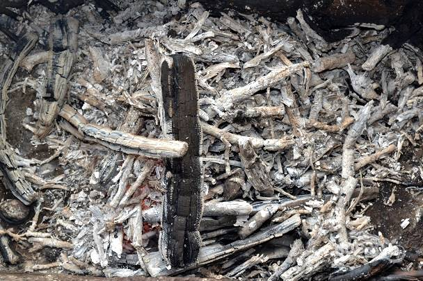 Чтобы шаурма приобрела аппетитную корочку, угли должны как следует прогореть.