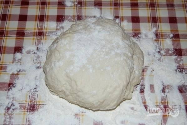 3.Замесите гладкое, однородное тесто.