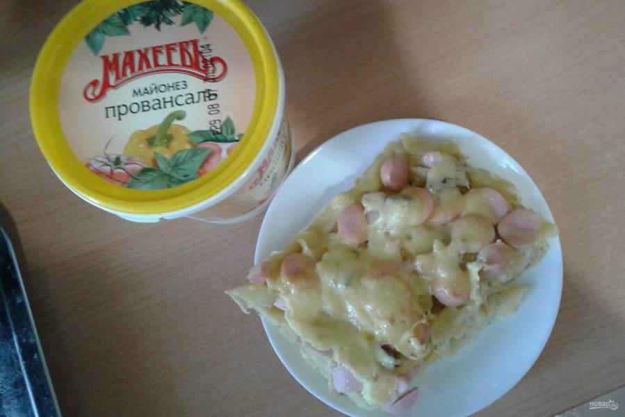 Лучший рецепт запеканки из макарон с сосисками с майонезом