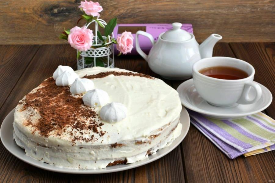 Подавайте торт охлажденным – так он особенно хорош!