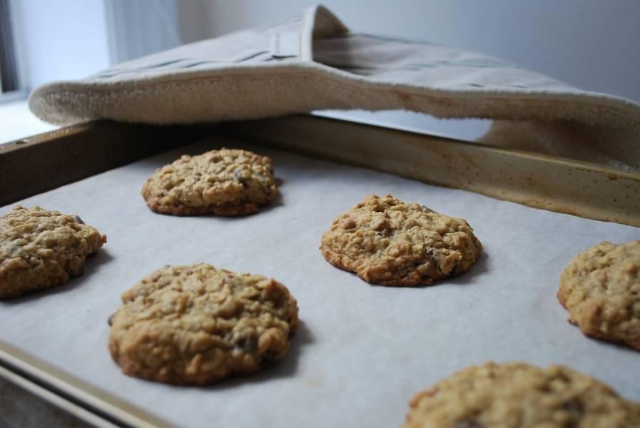 Затем сформируйте печенье мокрыми руками, выложите на пергамент и отправьте в духовку минут на 15-20. Смотрите, чтобы не подгорели.