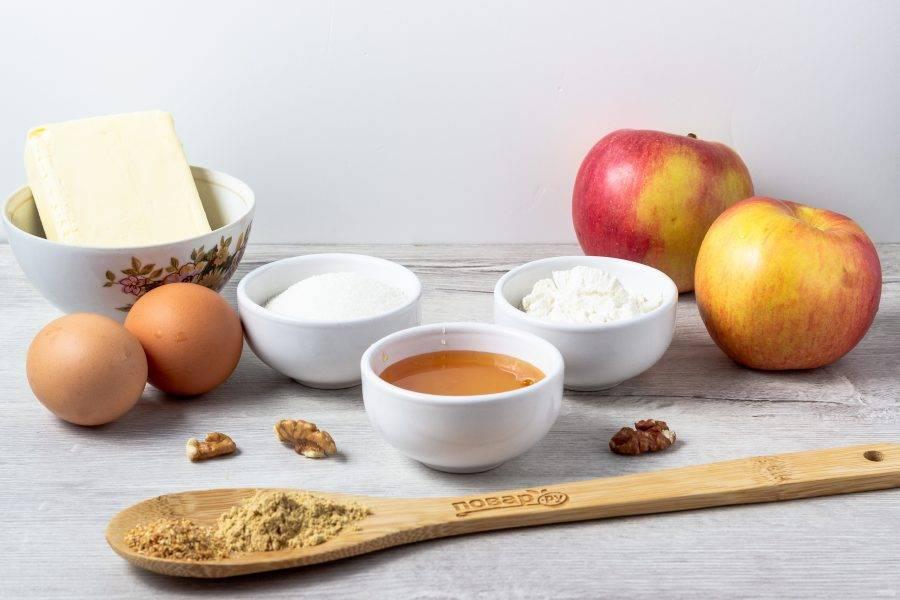 Подготовьте необходимые ингредиенты. Яблоки помойте.