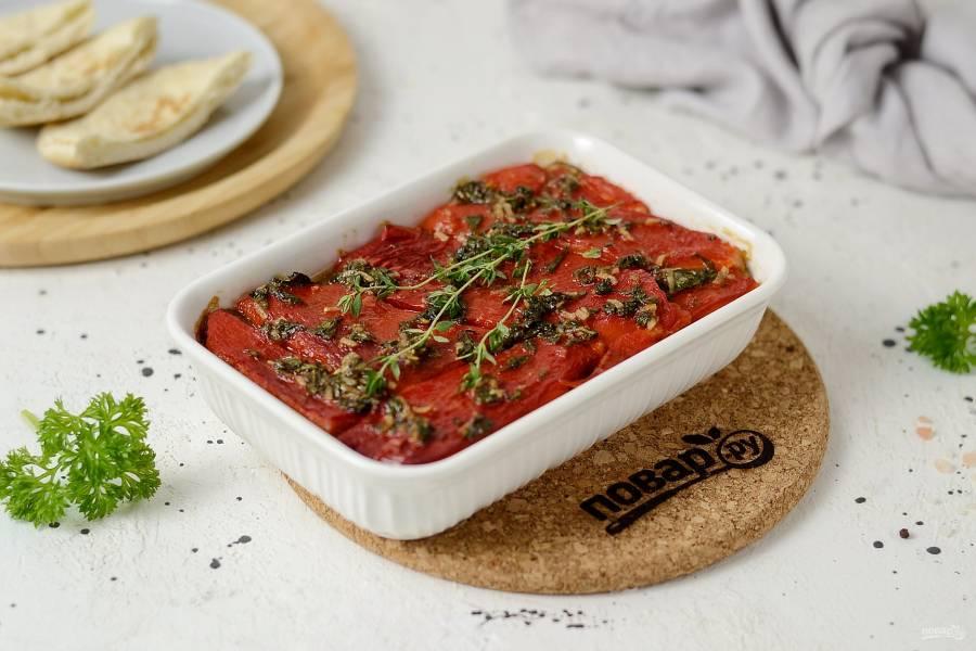 Овощной тьян из баклажанов и болгарского перца