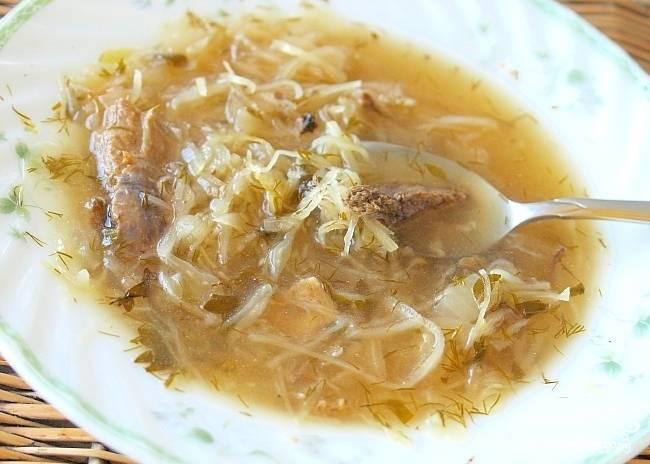 Суп с говядиной и капустой