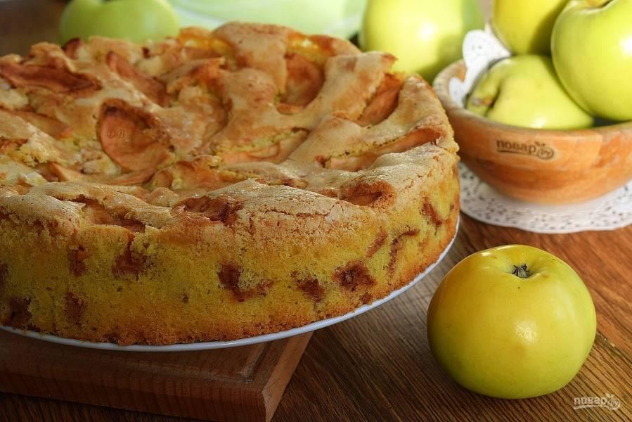 Шарлотка с яблоками (мастер-класс)