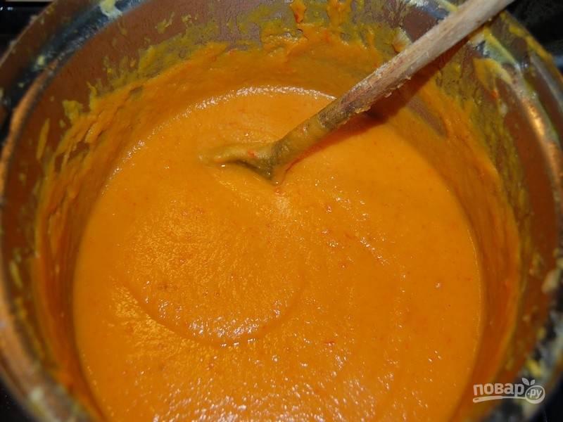 Измельчите в блендере до получения однородного супа-пюре.
