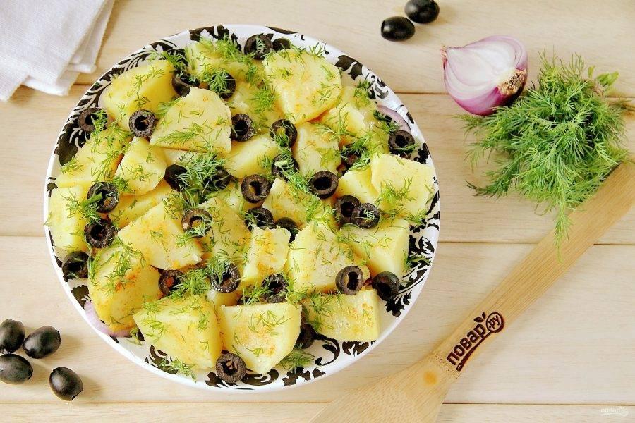Как просто приготовить салат с картошкой