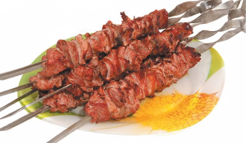 Шашлык из говядины с уксусом